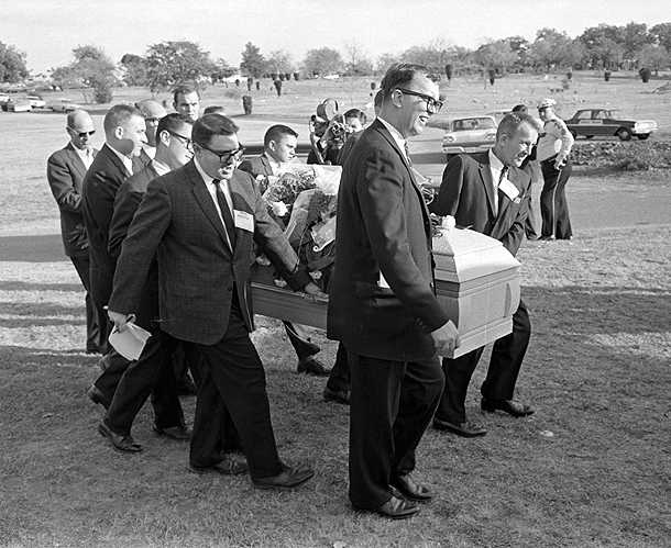 Reporters were enlisted to act as Oswald's pallbearers