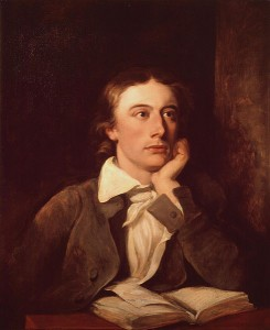 John Keats by William Hilton after a portrait by Severn, ca. 1822
