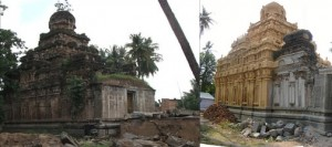 Kailasanathar Temple before (l) after (r)
