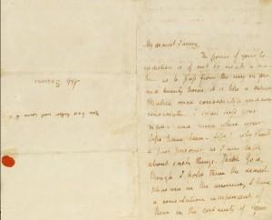 Keats love letter to Fanny Brawne, 1820
