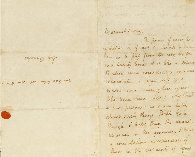the history blog » blog archive » rare keats love letter for sale