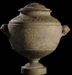 Roman funerary urn, 1st cent. AD, tortured in the 1970s
