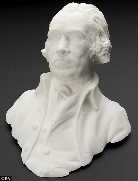 Bust of James Watt derived from the 1807 mold using 3D digital scanner