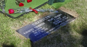 The Chandlers' new grave marker