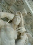 NYPL pediment sculpture after