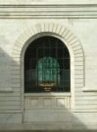 NYPL window after