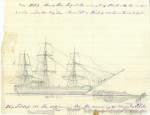 "Sketch of the ramming, by ""Essex"" cabin boy Thomas Nickerson, 1850"