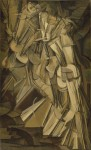 """Nude Descending a Staircase, No. 2,"" Cubo-FuturiEst painting by Marcel Duchamp that caused a huge ruckus at the Armory Show"