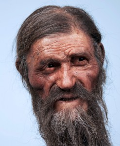 New reconstruction of Otzi the Iceman, courtesy National Geographic Germany
