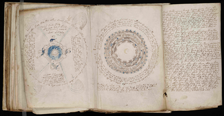 Cosmological drawings from the Voynich Manuscript