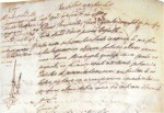 Arrest report from May 28, 1605, for illegal possession of sword dagger