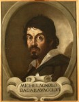 Portrait of Caravaggio, artist unknown, after drawing by Ottavio Leoni, c. 1621