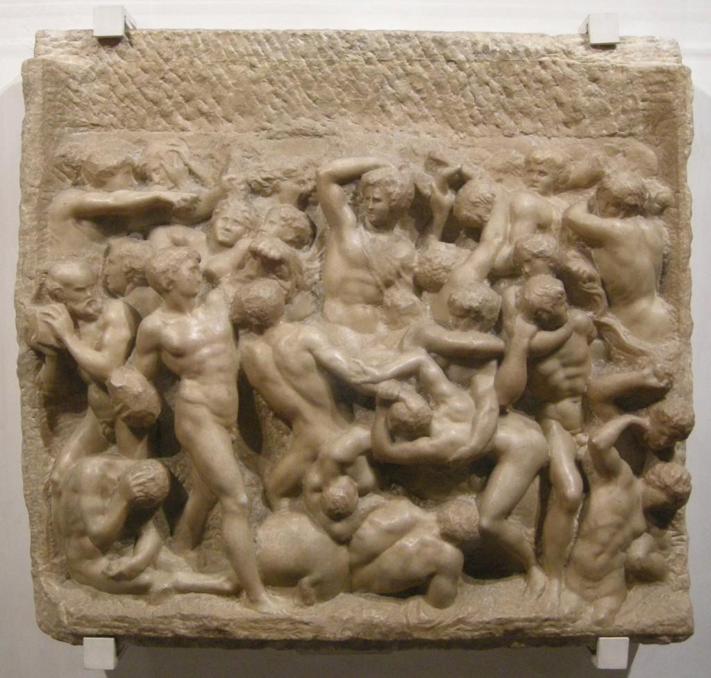 "Michelangelo ""Battle of the Centaurs"" relief, 1492"