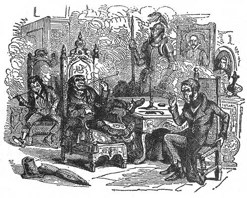 """The Legal Gentleman named Brass"" illustration from Dickens' ""The Old Curiosity Shop"", 1840"