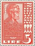 1938 San Marino Lincoln stamp, scarlet