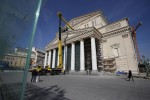 Bolshoi facade undergoing reconstruction