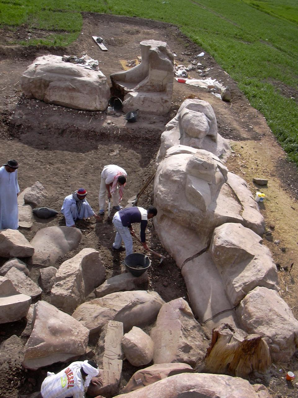 egypt the troubled giant Researchers in alexandria broke open the stone coffin to discover three bodies  submerged in rancid sewer water.