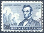 San Marino Abramo Lincoln stamp, 1959