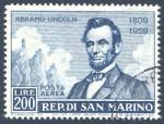 San Marino Abramo Lincoln stamp, 1959