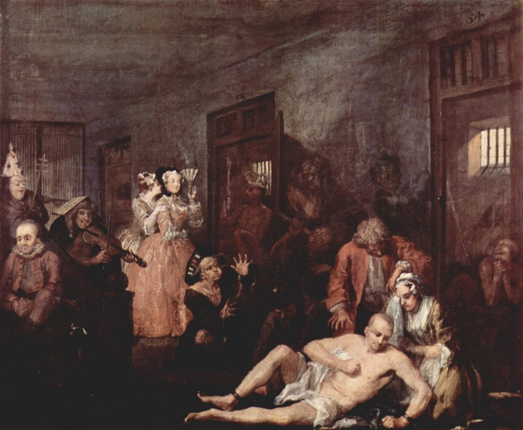 """A Rake's Progress,"" by William Hogarth, 1733"