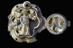 Belt buckle with figural representation