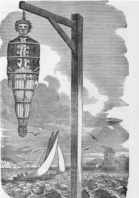 Gossips & lies from Port Royal - Page 2 Captain-Kidd-executed-1701-gibbet