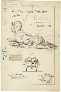 Creeping Baby Doll, March 1871 patent application, R.J. Clay