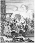 The quartering of Thomas Armstrong in 1683 for treason