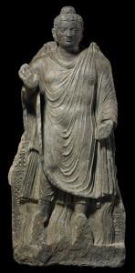 Gandharan Buddha statue, 2nd c.