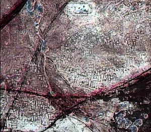 Infra-red aerial view of ancient Tanis