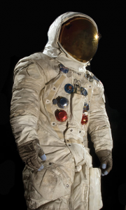 The space suit Neil Armstrong wore to take the first steps on the moon, July 20, 1969