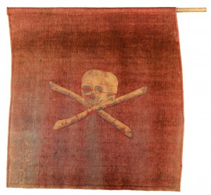 Original Jolly Roger flag, captured ca. 1789
