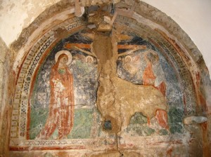 Newly discovered fresco in the Church of Sant'Anna, Capri, ca. 1300