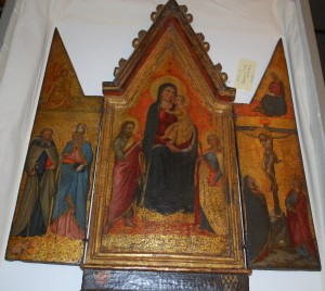 Virgin Mary triptych attributed to Jacopo del Casentino, 14th c.