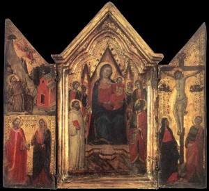 Madonna Enthroned with Angels and Saints, Jacopo del Casentino, ca. 1330
