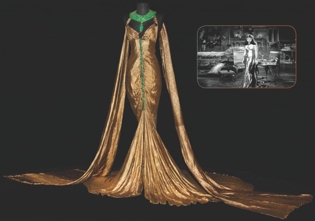 Claudette Colbert's gold lamé 'Cleopatra' gown