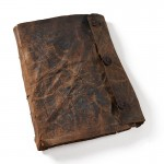 Faddan More Psalter's leather cover on display