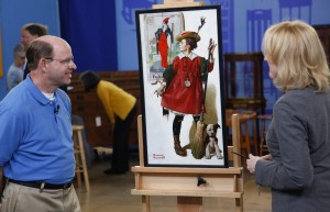 Appraiser Nan Chisholm evaluates Norman Rockwell's 'The Little Model' at Eugene, Oregon Antiques Roadshow