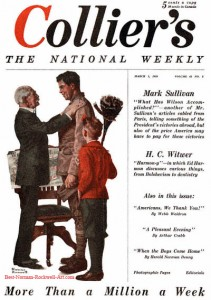 Norman Rockwell's first Collier's cover, 'War Hero Job Hunting'