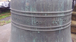 Closeup of 'Revere & Sons Boston' stamp on the bell