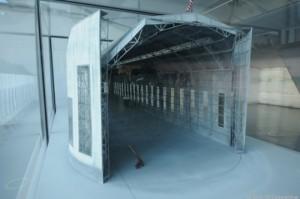 Scale model of Hindenburg hangar