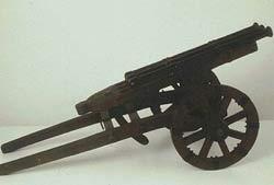 Triple barrel cannon replica in Milan