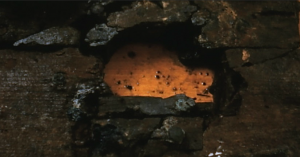2.7-inch hole near the keel