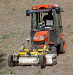 Ground-penetrating radar attached to tractor
