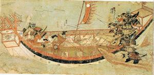 Samurai boarding Yuan ships in 1281
