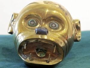 Moche gold monkey's head pendant, ca. 300 A.D.