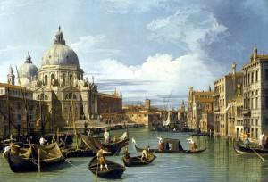 """The Grand Canal and the Church of the Salute"" by Canaletto, 1730, Museum of Fine Arts, Houston"