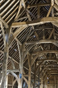 Harmondsworth Barn, interior detail