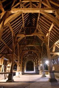 Harmondsworth Barn interior