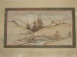 Harperley canteen wall painting, mountain cottage